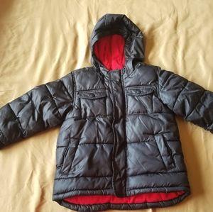 Old Navy, black, hooded, puffer Jacket